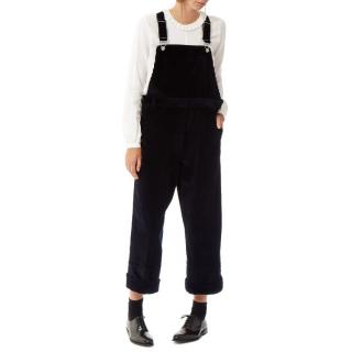 Cabbages & Roses Oliver Oversized Dungaree Overalls in Midnight