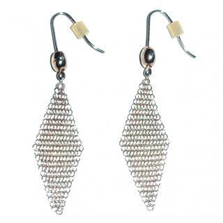 Tiffany & Co. Elsa Peretti Silver Mesh Tassel Earrings