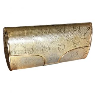 Gucci gold plated vintage clutch