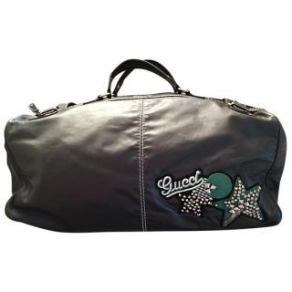Gucci Black Leather Travel Bag