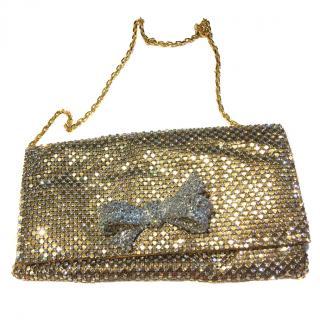 Shana London Gold Chain Mail Clutch Bag