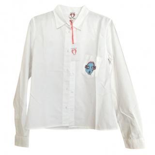 Shrimps White Wonky Pocket Shirt