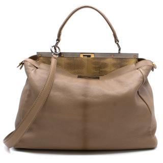 Fendi Peekaboo light brown leather bag