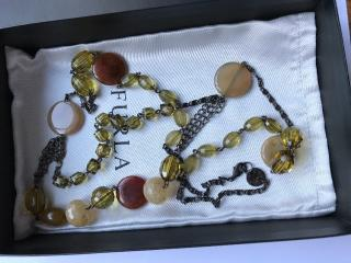 Furla Metal & Plexi Long Necklace