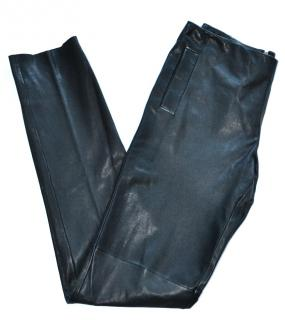 Bottega Veneta black leather trousers