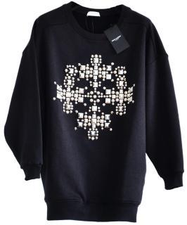 Saint Laurent runway black oversized sweatshirt