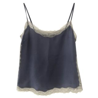Zadig and Voltaire blue silk cami