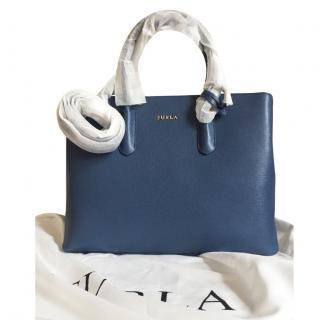 Furla Blue Tote Bag