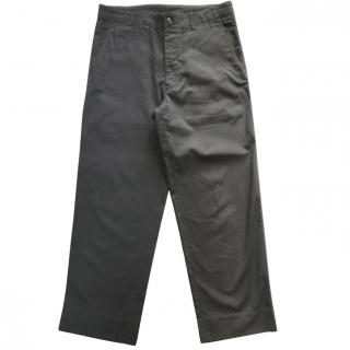 Issey Miyake black oversize trousers