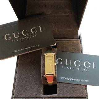 Gucci 1500 18ct Gold Plated Horsebit Bracelet Watch