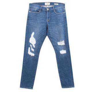 Frame Le Garcon Blue Skinny Jeans