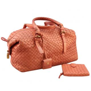 Bottega Veneta Intrecciato Handbag with Matching Purse