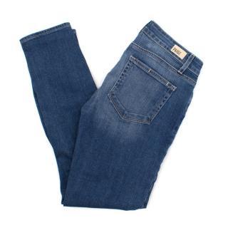 Paige Blue Distressed Jeans