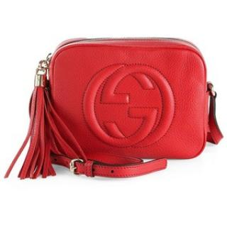 Gucci Red Leather Soho Disco Bag