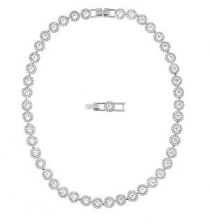 Swarovski Angelic rhodium-plated necklace