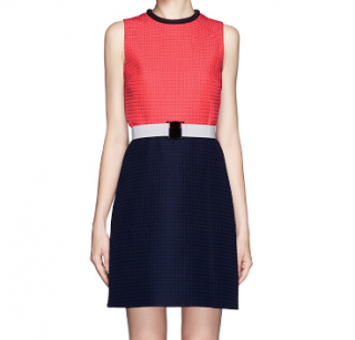 'Victoria' Victoria Beckham Two Tone Dress