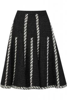 Oscar de la Renta Boucle wool-blend swing skirt