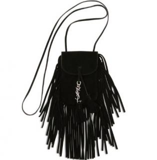 Saint Laurent Anita black suede pouch