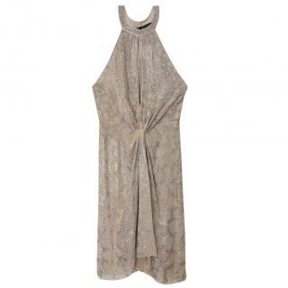 Roberto Cavalli silk sequined dress