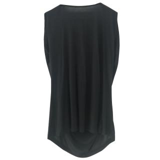 Haute Hippie Black Draped Chain Detail Top