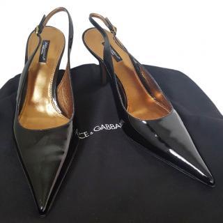Dolce & Gabbana sling back pumps  eu 41 uk 7.5