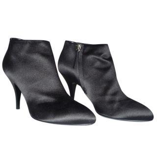 Giuseppe Zanotti ankle boots in black satin
