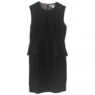 Diane Von Furstenberg black peplum detail dress