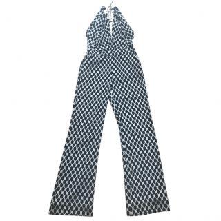 Diane Von Furstenberg chain link jumpsuit