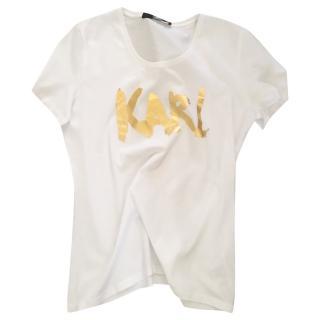 Karl Lagerfeld white cotton T-Shirt