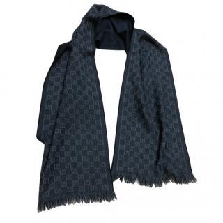 Gucci unisex grey scarf