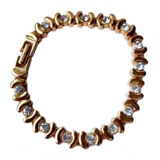 Nina Ricci Gold/Crystal Tennis Bracelet