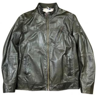 Hugo Boss Jips Leather Biker Jacket
