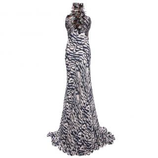 Roberto Cavalli Silk Printed Maxi Dress