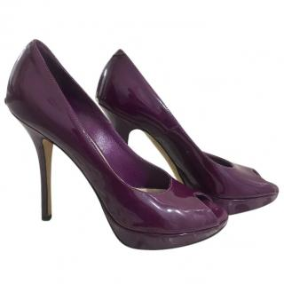 Dior Purple Patent Pumps
