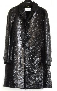 Saint Laurent runway black coat