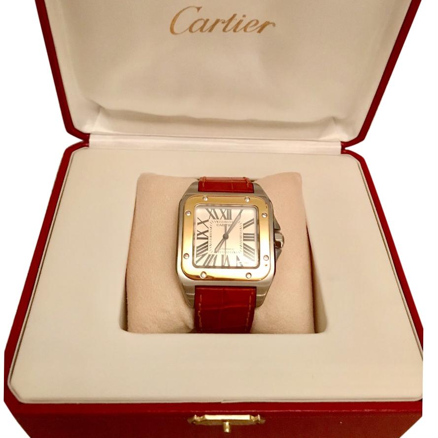 6b535a11dfa76 Cartier Santos 100 watch large model