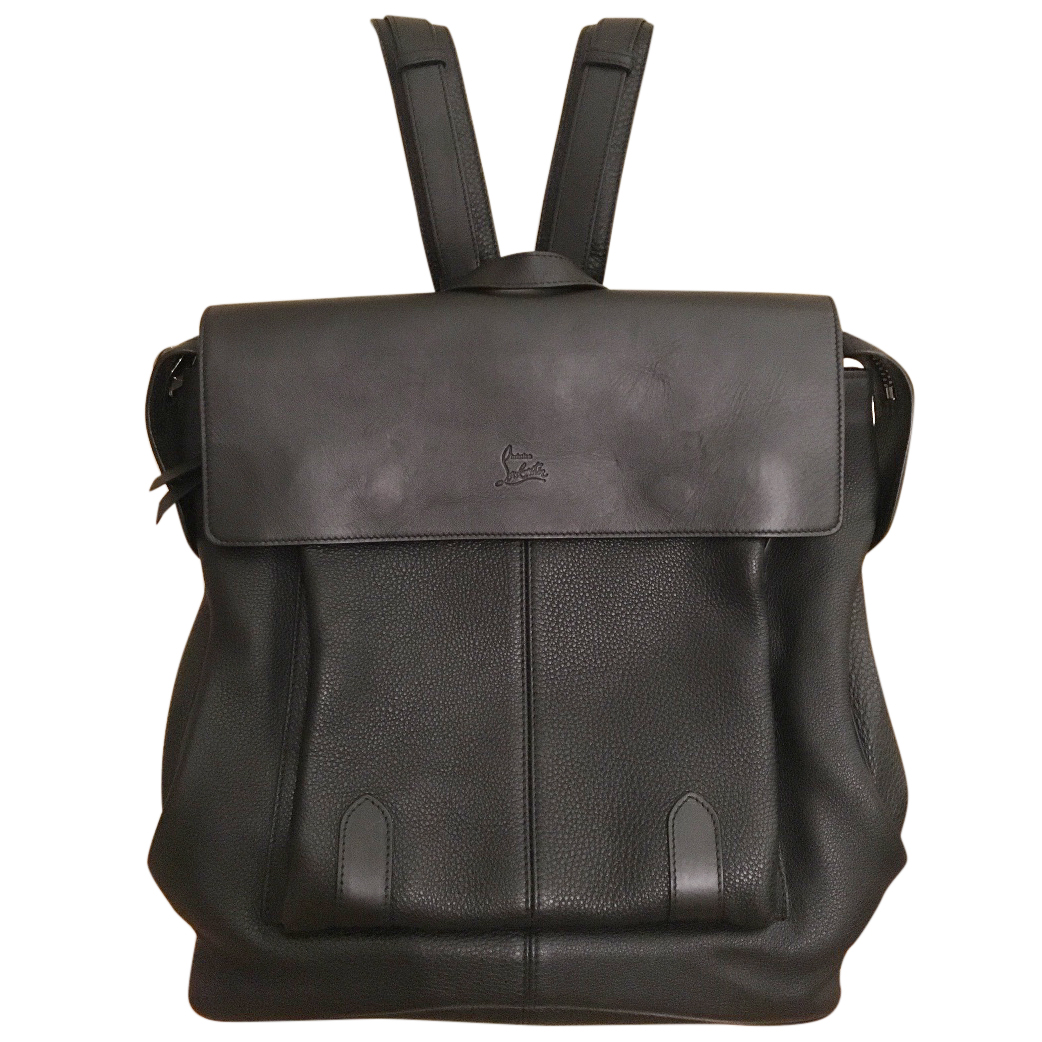 ddd0c977246 Christian Louboutin Black Leather backpack