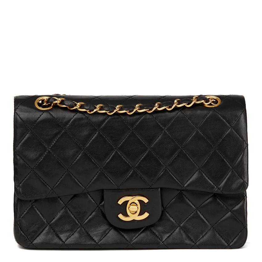 2ceb730d34d0 Chanel Black Vintage Small Double Flap Bag
