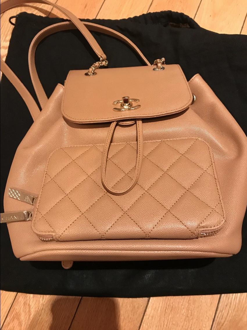 8ea7b988a082 Chanel Beige Business Affinity rucksack. 27. 12345678910