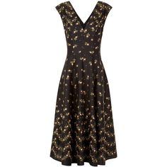 PHILOSOPHY di LORENZI SERAFINI floral print V-neck black dress