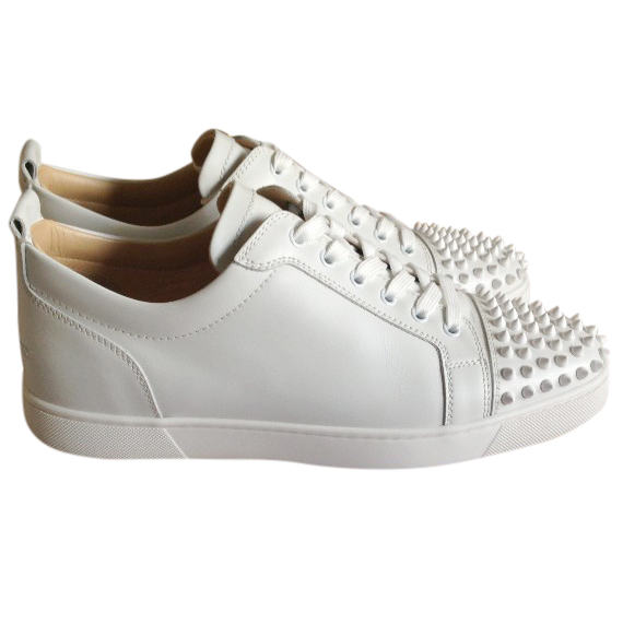 promo code c7ac9 65b7c Christian Louboutin low white trainers NEW in box