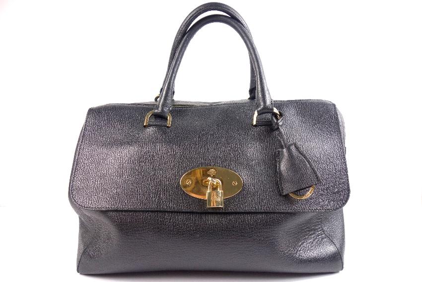 Mulberry Del Rey Handbag in Black Leather