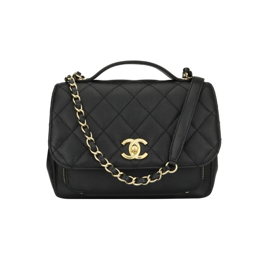 6b8f99fa9efc08 Chanel Black Caviar Business Affinity Medium Bag | HEWI London