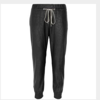 L'AGENCE Vegan Leather Jogger Pants