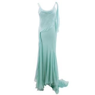 Christian Dior silk chiffon gown