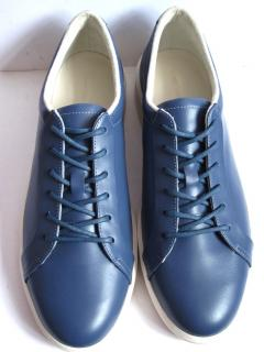 Lacoste Violet Blue Leather Lace up Trainers