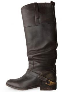 Golden Goose Deluxe Brand Charlye Brown Leather Riding Boots