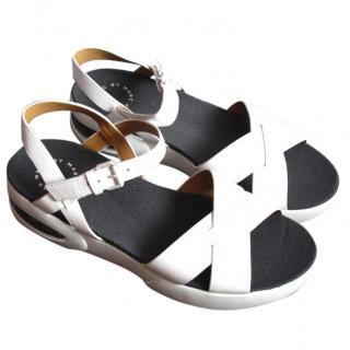 Marc Jacobs White Leather Bubble Sport Sandals
