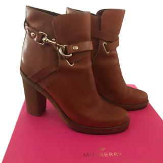 Mulberry tan boots size 6