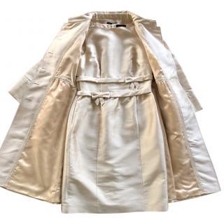 Luisa Spagnoli beige duchess coat and dress